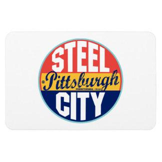 Pittsburgh Vintage Label Rectangular Photo Magnet