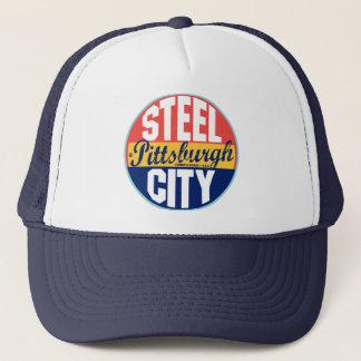 Pittsburgh Vintage Label Trucker Hat