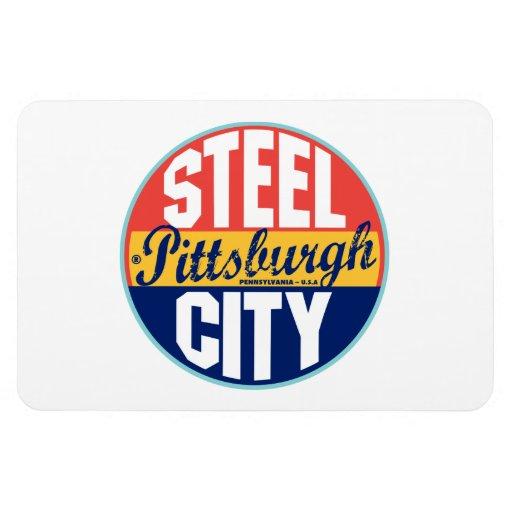 Pittsburgh Vintage Label Vinyl Magnets