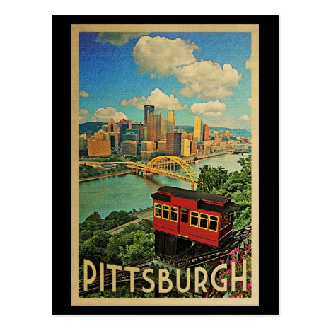 Pittsburgh Vintage Travel Duquesne Incline Postcard