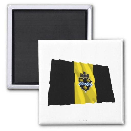 Pittsburgh Waving Flag Fridge Magnet