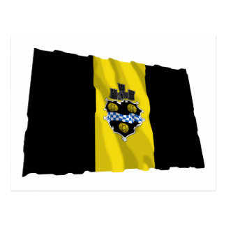 Pittsburgh Waving Flag Postcard