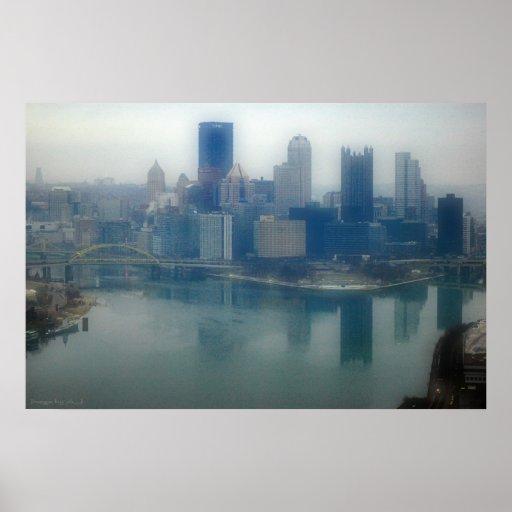 Pittsburgh Winter Mist Poster
