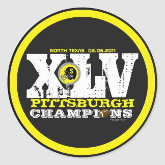 Pittsburgh XLV Football Champs Number Sticker