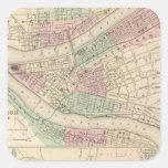 Pittsburgh y Allegheny, Pennsylvania Calcomanías Cuadradass Personalizadas