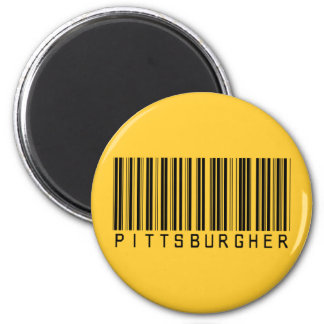 Pittsburgher Barcode 2 Inch Round Magnet