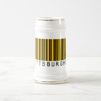 Pittsburgher Barcode Coffee Mugs