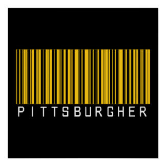 Pittsburgher Barcode Poster