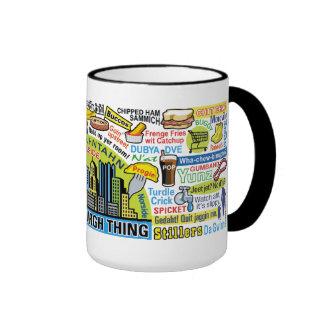 Pittsburghese Ringer Coffee Mug