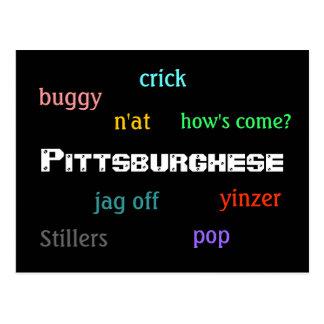 Pittsburghese Tarjetas Postales