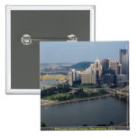 Pittsburgh's Golden Triangle, Pennsylvania, U.S.A. 2 Inch Square Button