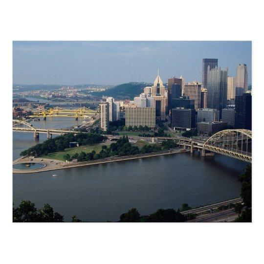 Pittsburgh's Golden Triangle, Pennsylvania, U.S.A. Postcard