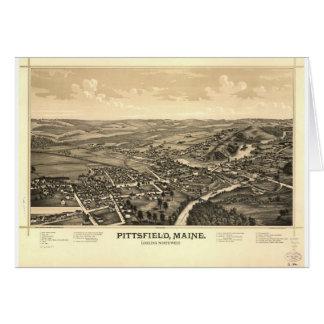 Pittsfield, Maine en 1889 Tarjeta De Felicitación