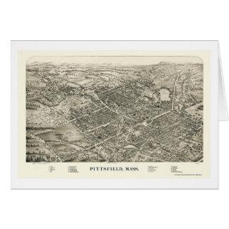 Pittsfield, mapa panorámico del mA - 1899 Tarjeta De Felicitación