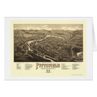 Pittsfield, mapa panorámico del NH - 1884 Tarjeta De Felicitación