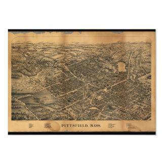 """Pittsfield Massachusetts (1899) Invitación 5"""" X 7"""""""