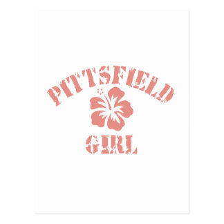 Pittsfield Pink Girl Postcard