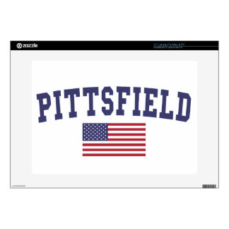 """Pittsfield US Flag 15"""" Laptop Decal"""