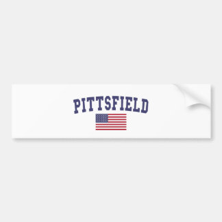 Pittsfield US Flag Bumper Sticker