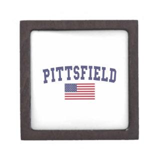 Pittsfield US Flag Keepsake Box