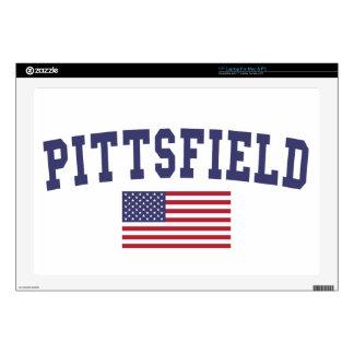 "Pittsfield US Flag Skin For 17"" Laptop"