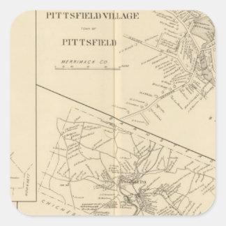 Pittsfield Village, Dunbarton, Pittsfield Square Sticker