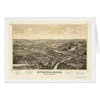 Pittsfield, YO mapa panorámico - 1889 Tarjeta De Felicitación
