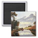 Pittsford on the Erie Canal painting Fridge Magnet