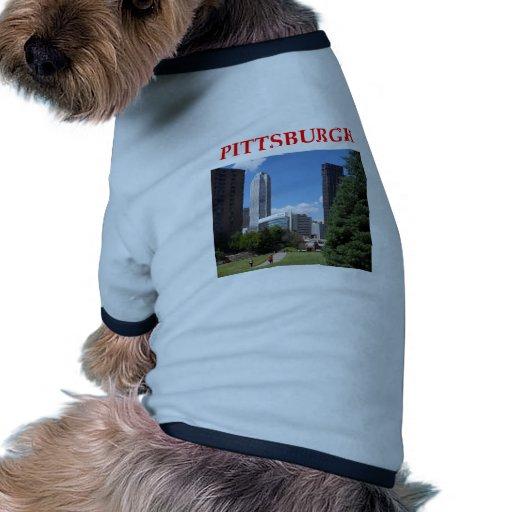 pitttsburgh camiseta de mascota