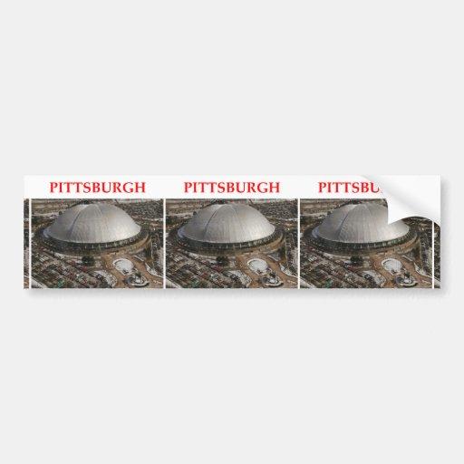 pitttsburgh etiqueta de parachoque