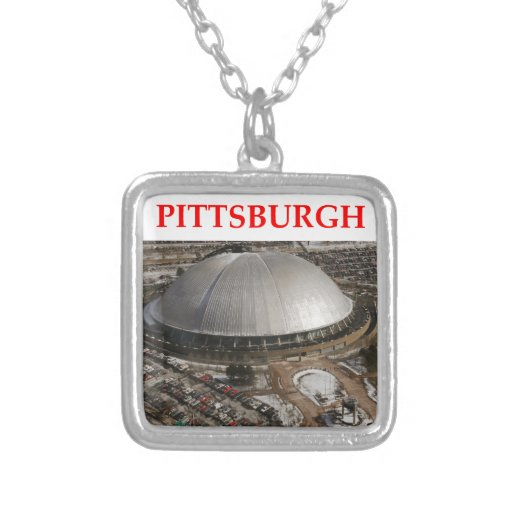 pitttsburgh square pendant necklace