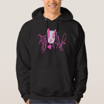 Pitty in Pink Black Hoodie