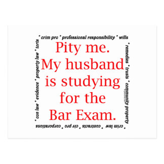 Pity me...husband postcard