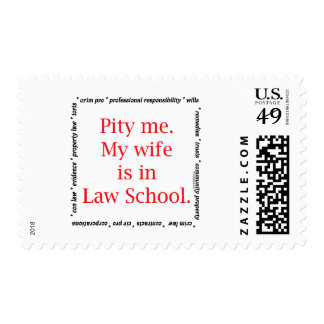 Pity me...wife, Law School Postage Stamp