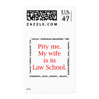 Pity me...wife, Law School Stamp