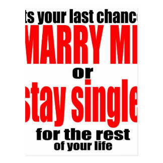 pity pickup proposal marry single couple joke quot postcard