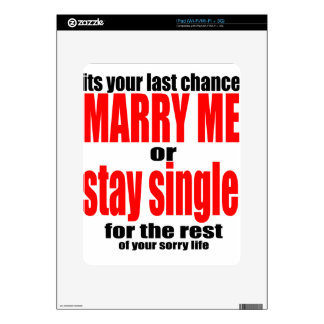 pity pitying proposal marry single couple joke quo skin for the iPad