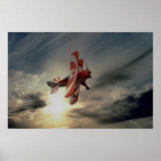 Pitz especial, avión aeroacrobacia del solo asient poster