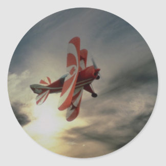 Pitz Special, single seat aerobatic aircraft Classic Round Sticker
