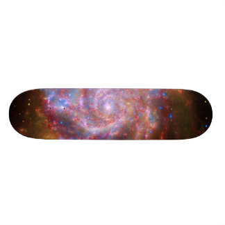 pitzer-Hubble-Chandra Composite of M101 Skateboards