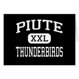 Piute - Thunderbirds - High School - Junction Utah Greeting Card