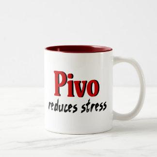 Pivo reduces stress coffee mugs