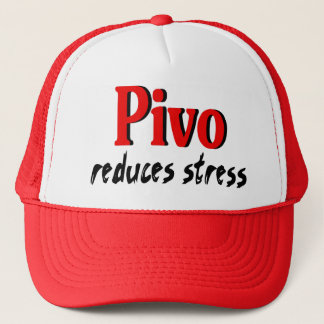 Pivo reduces stress trucker hat