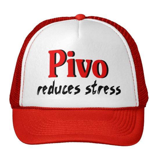 Pivo reduces stress trucker hat
