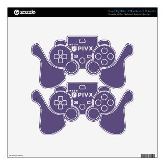 PIVX White Purple Skin For PS3 Controller