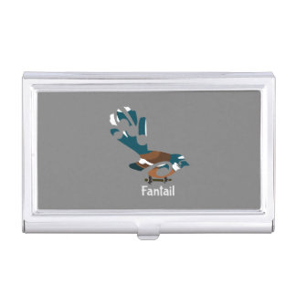 Piwakawaka | Fantail | New Zealand bird Business Card Holders