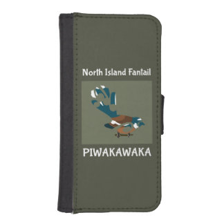 Piwakawaka | Fantail | New Zealand bird Phone Wallet Cases