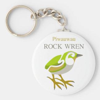 PIWAUWAU , New Zealand Bird, Rock Wren Key Chain