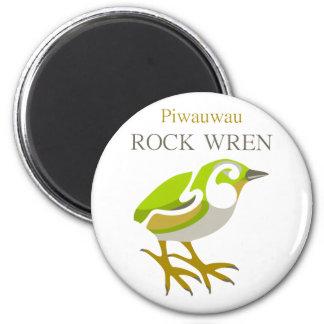 PIWAUWAU New Zealand Bird Rock Wren Magnet
