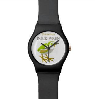 PIWAUWAU, pájaro de Nueva Zelanda, Wren de roca Reloj